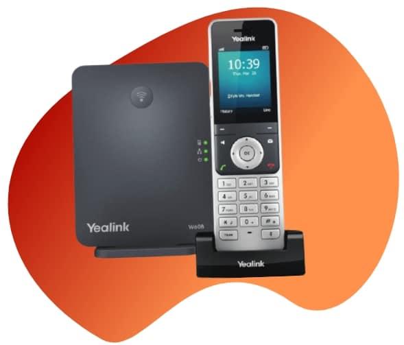 yealink w60p virtualtwin telefono ip dect