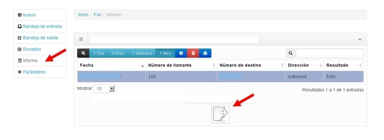 informes fax2mail virtualtwin